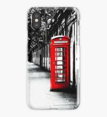 London Calling - Classic British Red Telephone Box iPhone Case