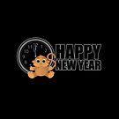 Happy New Year - Monkey by Adam Santana