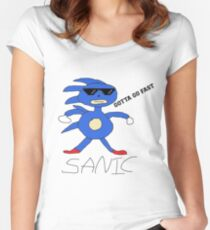 Sanic Women's Fitted Scoop T-Shirt
