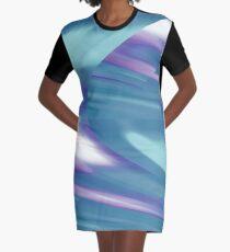 Time Traveler II   Abstract Interstellar Blue Shift Graphic T-Shirt Dress