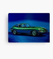 Jaguar E-Type 1967 Painting Canvas Print