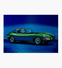 Jaguar E-Type 1967 Painting Photographic Print