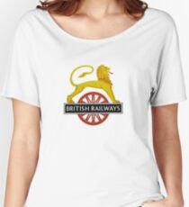 British Railway Lion on Bicycle Emblem Women's Relaxed Fit T-Shirt
