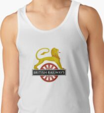 British Railway Lion on Bicycle Emblem Tank Top