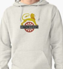 British Railway Lion on Bicycle Emblem Pullover Hoodie