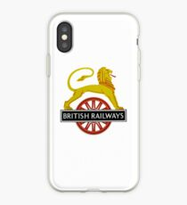 British Railway Lion on Bicycle Emblem iPhone Case