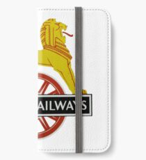 British Railway Lion on Bicycle Emblem iPhone Wallet/Case/Skin