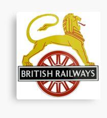 British Railway Lion on Bicycle Emblem Metal Print