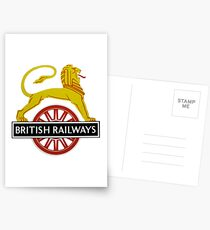 British Railway Lion on Bicycle Emblem Postcards
