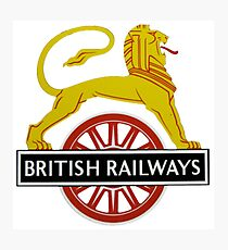 British Railway Lion on Bicycle Emblem Photographic Print