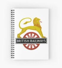British Railway Lion on Bicycle Emblem Spiral Notebook