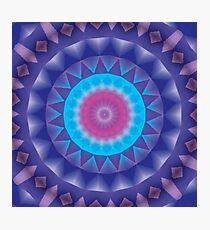 Unique, Original Abstract Kaleidoscope Mandala Photographic Print