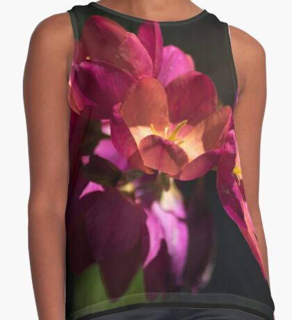 Flowers of Red and Pink Contrast Tank