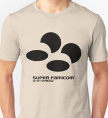 an adidas sweatshirt except it says super famicom in black Unisex T-Shirt