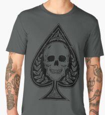 All-Over Vintage Skull and Spade Men's Premium T-Shirt