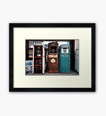 Gas Pumps Framed Print