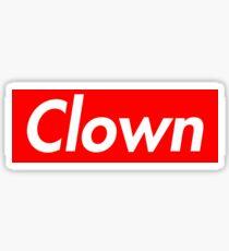 clown supreme Sticker