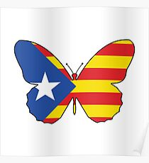 Catalonia, Butterfly Poster