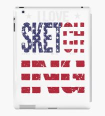 Sketching Love Hobby USA Distressed Flag iPad Case/Skin
