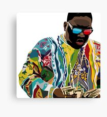 Biggie Sticker Canvas Print