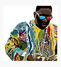 Biggie Sticker Photographic Print