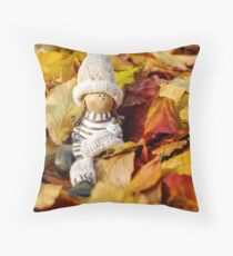 Fall Doll Throw Pillow