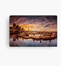 Seattle marinescape Canvas Print