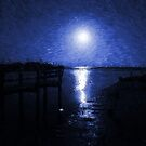 Blue Moon Over Cedar Key by Brian Gaynor