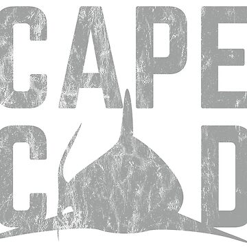 Cape Cod Vintage Shark Shirt  by HoodieWoodie
