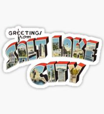 Greetings from Salt Lake City, Utah 1 Sticker