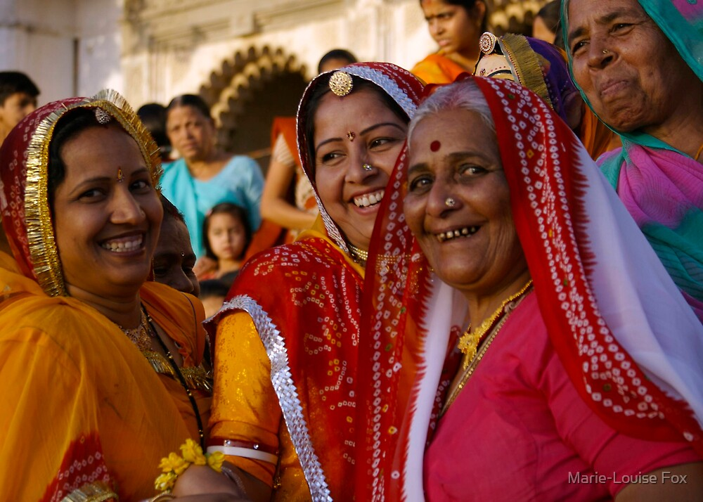 Laughing women, Udaipur, India 2007 by Marie-Louise Fox