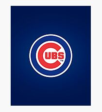 Chicago Cubs logo Photographic Print