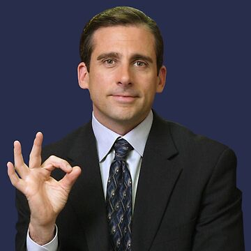 michael scott gang sign  by astralfeather