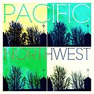 Pacific Northwest Green and Blue Color Grid  by EvePenman