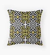 Funky Black n Gold Aztec Pattern Floor Pillow