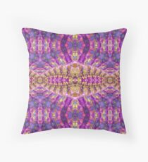 Purple Royale Fractals Geometry Floor Pillow