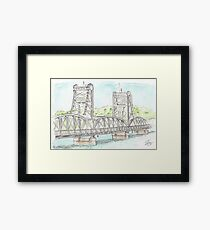 Stillwater Lift Bridge, Stillwater Minnesota Framed Print