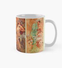 Alphonse Mucha Four Seasons Art Nouveau Mug