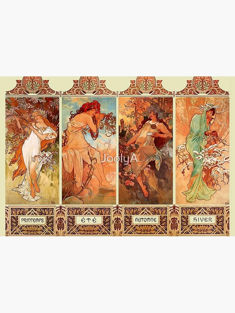 Alphonse Mucha Vier Jahreszeiten Jugendstil von JoolyA