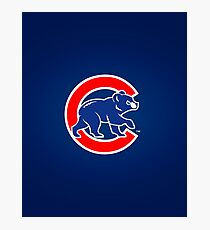 Chicago Cubs logo II Photographic Print