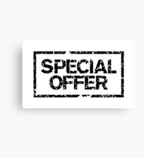 Special Offer (Black) Canvas Print