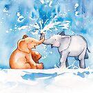 elephant fountain  by Nina Rycroft