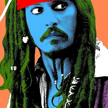 Captain Jack Sparrow Andy Warhol style Poster, Pop Art Big Digital Poster Portrait.  by StRes