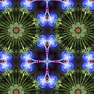 Indigo Light Green Mandala by webgrrl