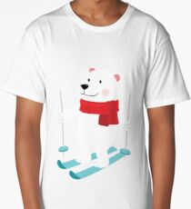 Lets Go Skiing with Mr Polar Bear this Merry Christmas Long T-Shirt