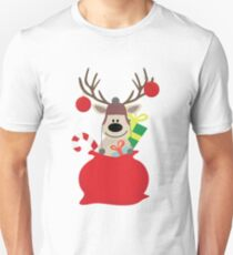 Santa Claus sends you Surprise gif with Mr Reindeer T-Shirt