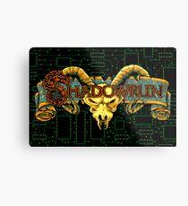 Shadowrun (Genesis Title Screen) Metal Print
