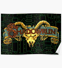 Shadowrun (Genesis Title Screen) Poster