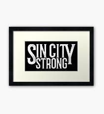 Sin City Strong Framed Print