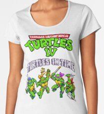 TMNT Turtles In Time (SNES) Women's Premium T-Shirt